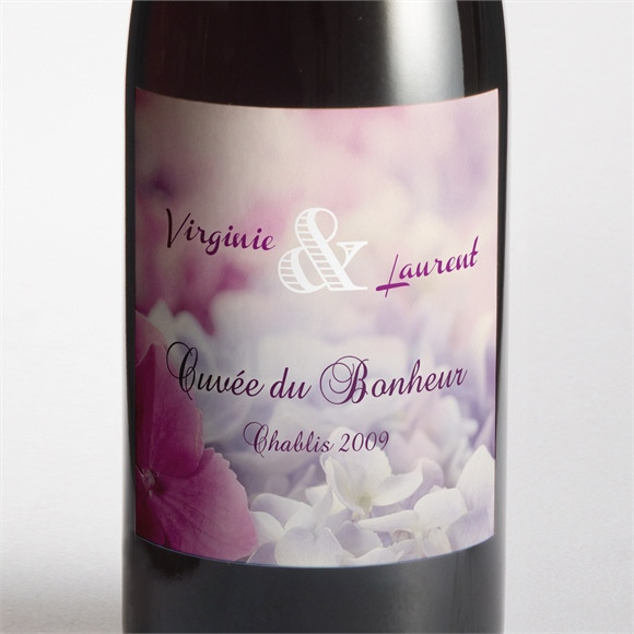 Etiquette de bouteille mariage Eclosion réf.N300905