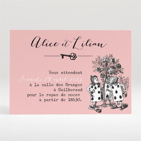 Carton d'invitation mariage Atout Coeur réf.N120316
