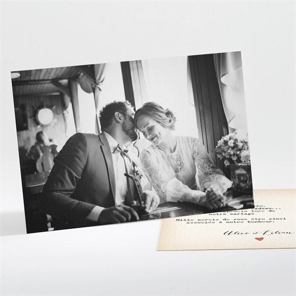 Remerciement mariage Atout Coeur réf.N111105