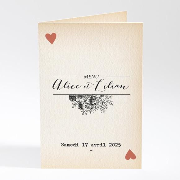 Menu mariage Atout Coeur réf.N401621