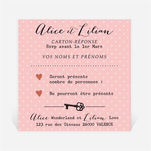 Carton réponse mariage Atout Coeur réf.N300909