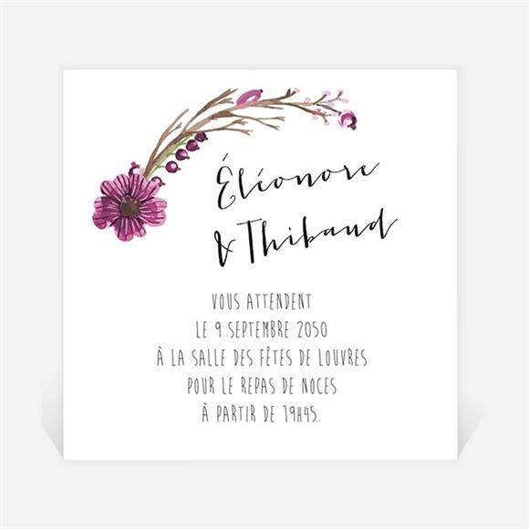 Carton d'invitation mariage Annonce chic et tendance réf.N300914