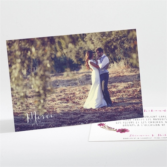 Remerciement mariage Annonce chic et tendance réf.N111107