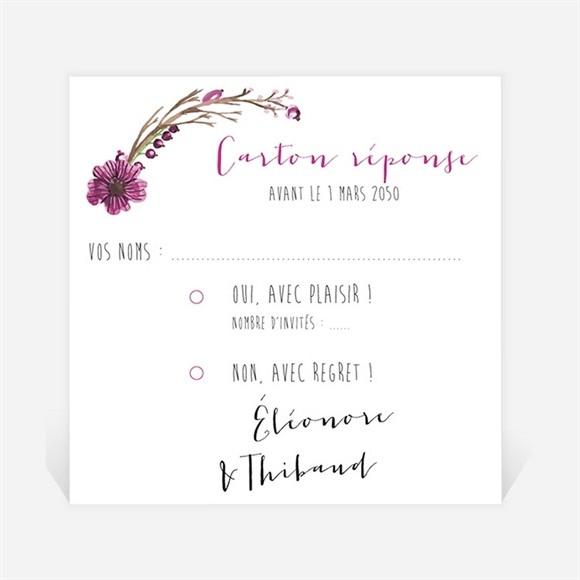 Carton réponse mariage Annonce chic et tendance réf.N300915