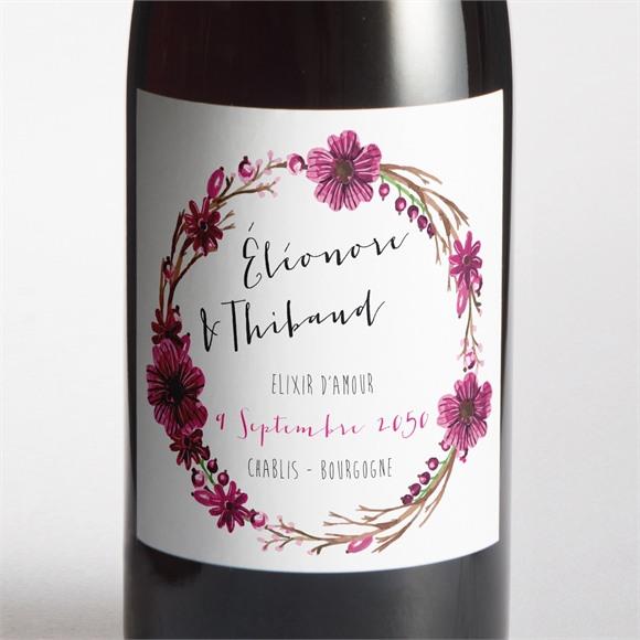 Etiquette de bouteille mariage Annonce chic et tendance réf.N300916