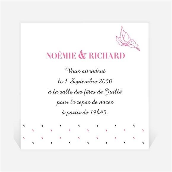Carton d'invitation mariage Champêtre rose original réf.N300900