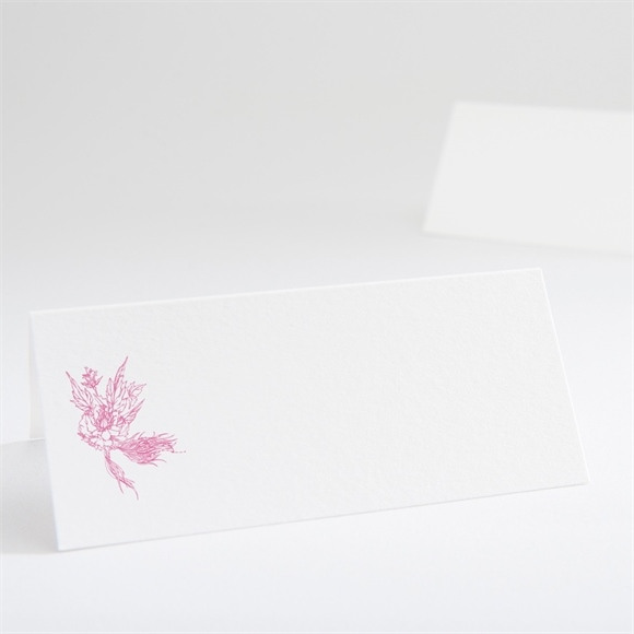 Marque-place mariage Champêtre rose original réf.N440500