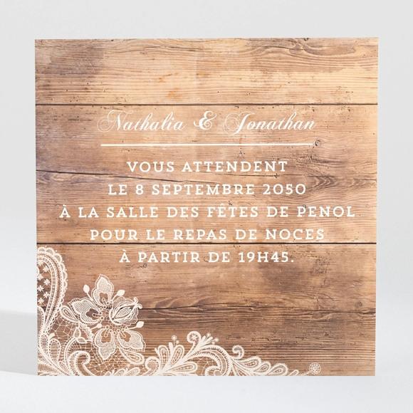 Carton d'invitation mariage Boisé réf.N300917
