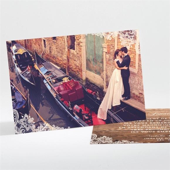 Remerciement mariage Boisé réf.N111108