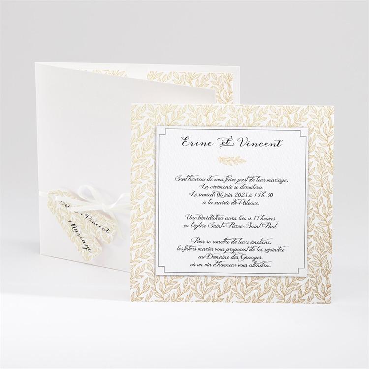Faire-part mariage Elégance dorée et prestige réf.N91008