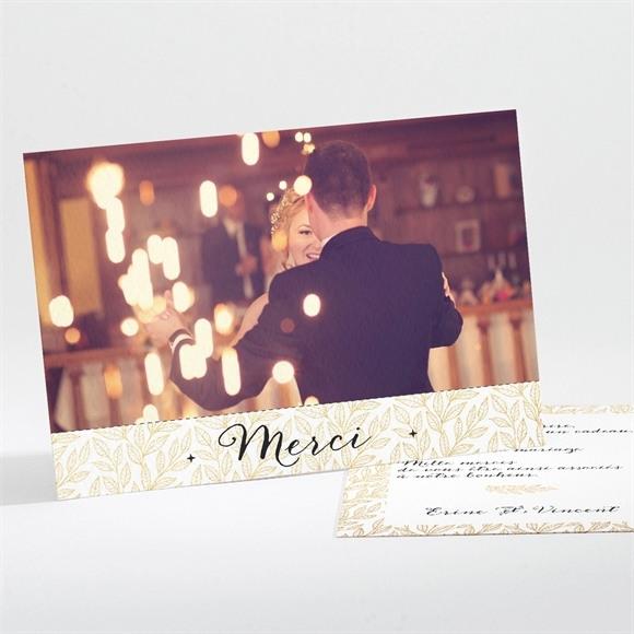 Remerciement mariage Elégance dorée et prestige réf.N111109