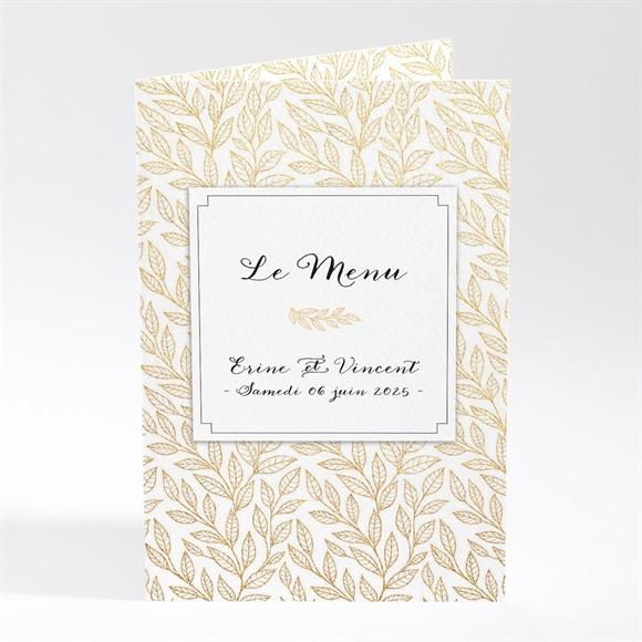 Menu mariage Elégance dorée et prestige réf.N401626