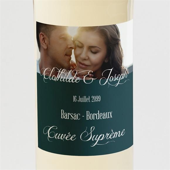 Etiquette de bouteille mariage Harmonie réf.N300922