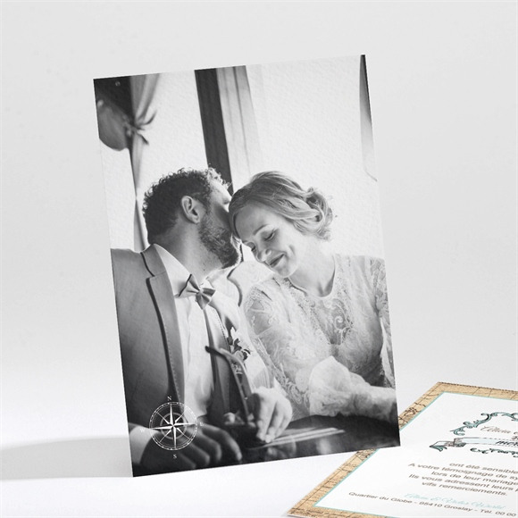 Remerciement mariage Carte du Monde réf.N211100