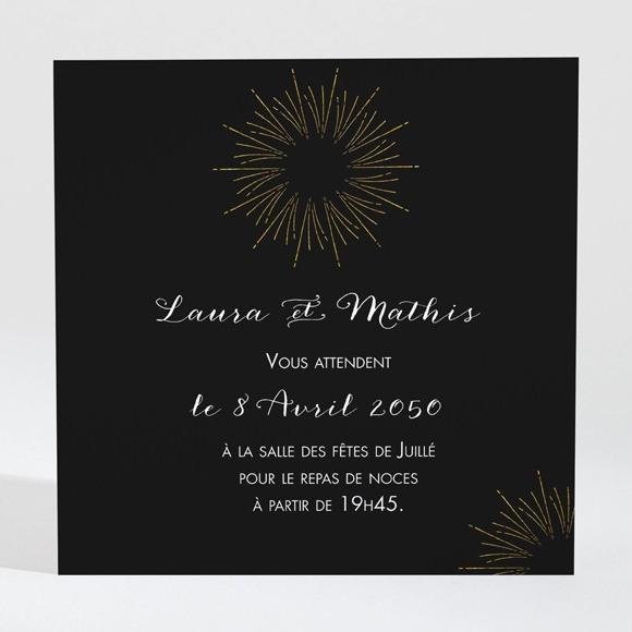 Carton d'invitation mariage Feux d'artifices réf.N300932