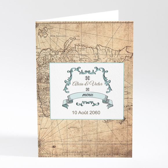 Menu mariage Carte du Monde réf.N401628