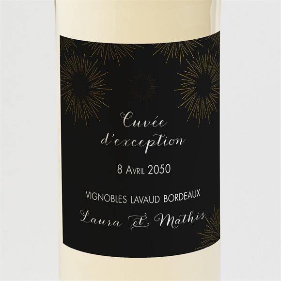 Etiquette de bouteille mariage Feux d'artifices réf.N300934
