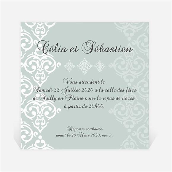Carton d'invitation mariage Simple et raffiné réf.N300935