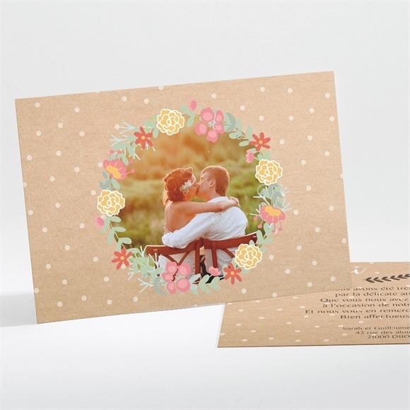 Remerciement mariage Jolis pois et fleurs réf.N111111