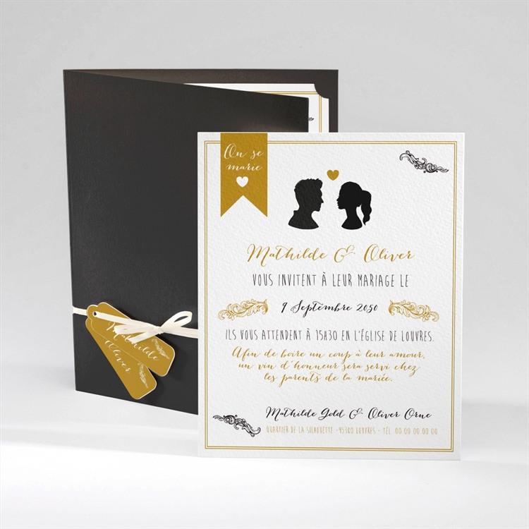 Faire-part mariage Profils élégants réf.N92013