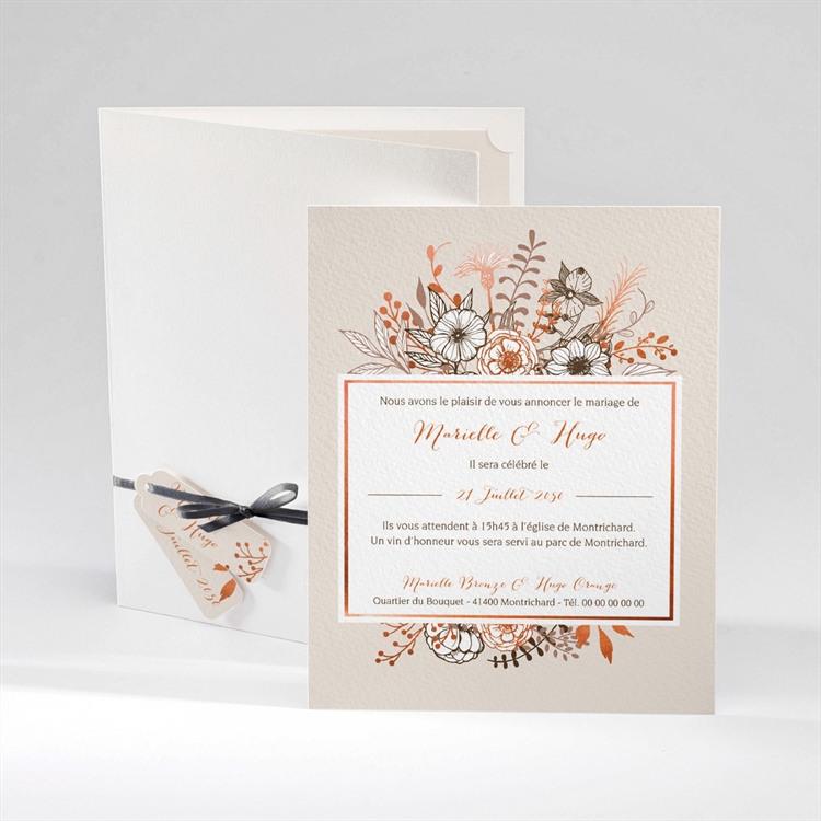 Faire-part mariage Fleurs séchées réf.N92012