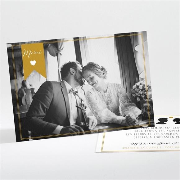 Remerciement mariage Profils élégants réf.N111112