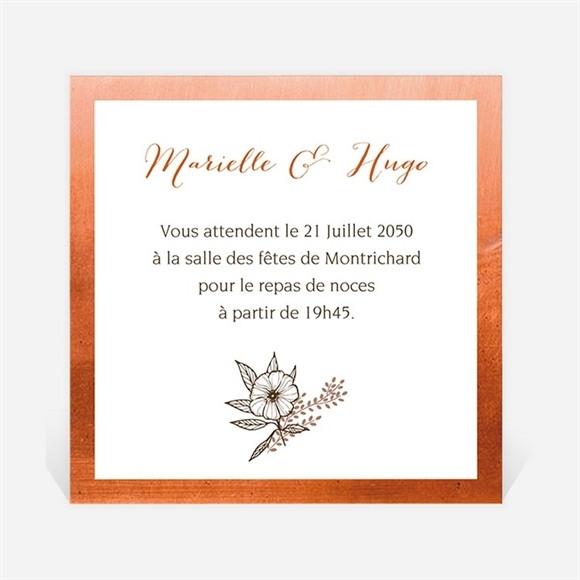 Carton d'invitation mariage Fleurs séchées réf.N300947