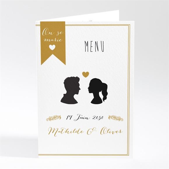 Menu mariage Profils élégants réf.N401635
