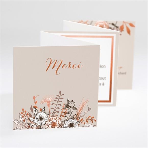 Remerciement mariage Fleurs séchées réf.N80099