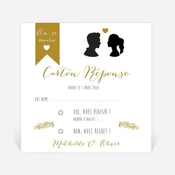 Carton réponse mariage Profils élégants réf.N300951