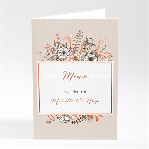 Menu mariage Fleurs séchées réf.N401634