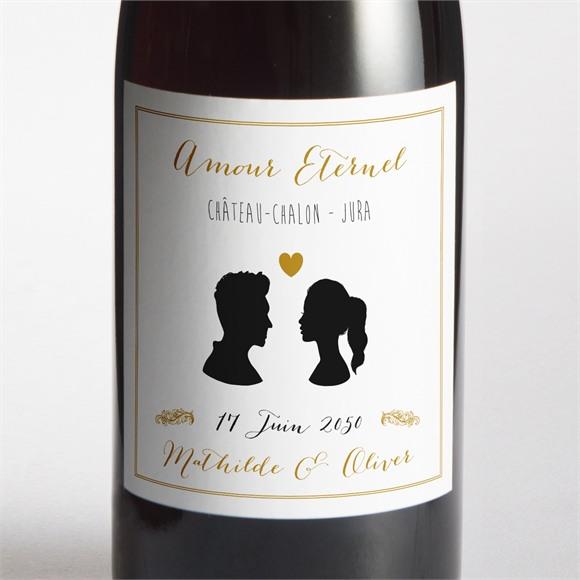 Etiquette de bouteille mariage Profils élégants réf.N300952