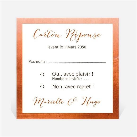 Carton réponse mariage Fleurs séchées réf.N300948