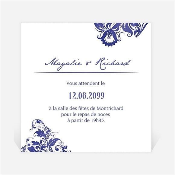 Carton d'invitation mariage Faïence et porcelaine réf.N300965