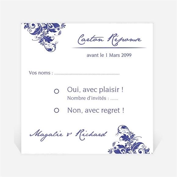 Carton réponse mariage Faïence et porcelaine réf.N300966