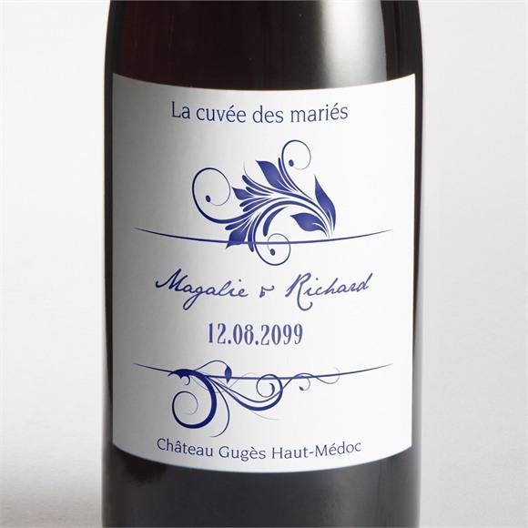 Etiquette de bouteille mariage Faïence et porcelaine réf.N300967