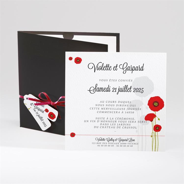 Faire-part mariage Joli coquelicot réf.N91012