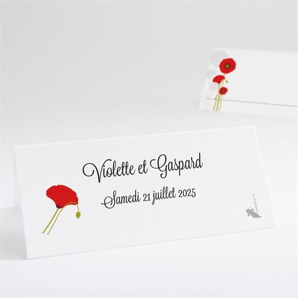Marque-place mariage Joli coquelicot réf.N440524