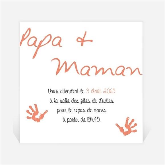 Carton d'invitation mariage Papa + Maman réf.N300968