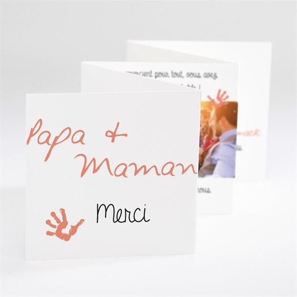 Remerciement mariage Papa + Maman réf.N800100