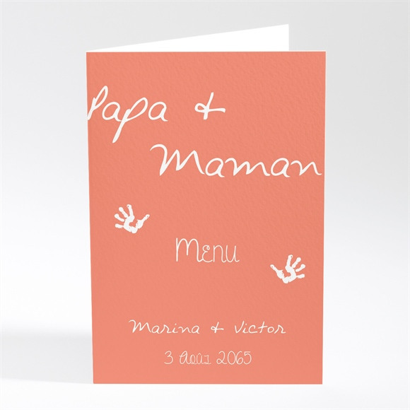 Menu mariage Papa + Maman réf.N401641