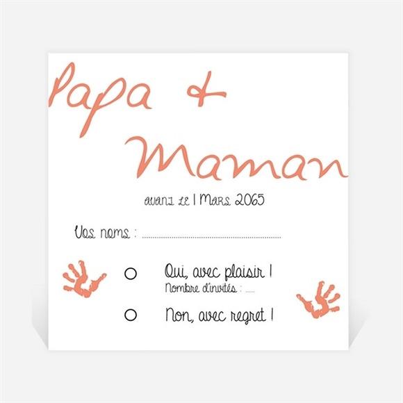 Carton réponse mariage Papa + Maman réf.N300969