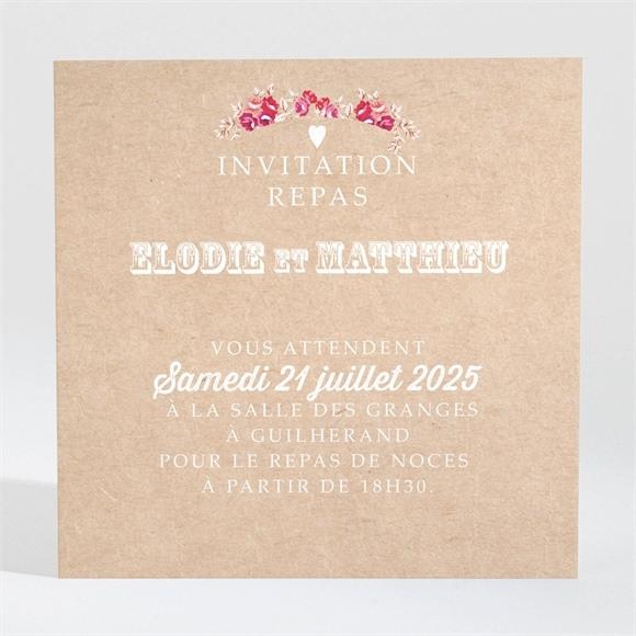 Carton d'invitation mariage A l'aventure ! réf.N300974