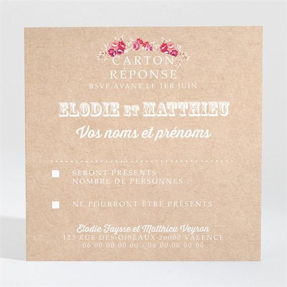 Carton réponse mariage A l'aventure ! réf.N300975