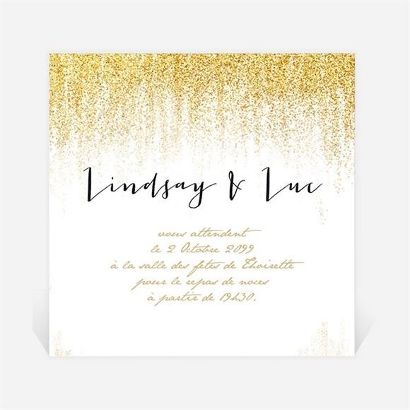 Carton d'invitation mariage Pluie d'or réf.N300980