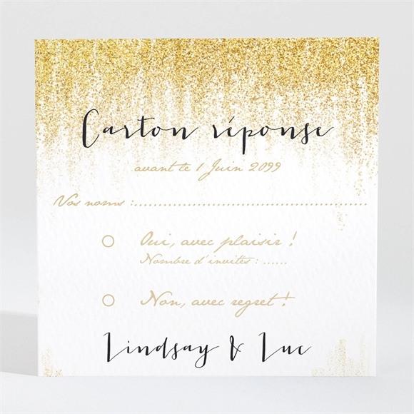 Carton réponse mariage Pluie d'or réf.N300981