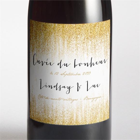 Etiquette de bouteille mariage Pluie d'or réf.N300982