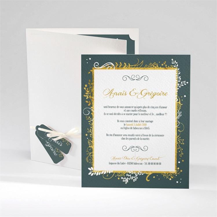 Faire-part mariage Scintillant et original réf.N92021