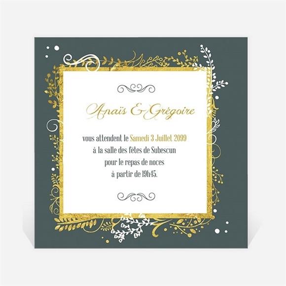 Carton d'invitation mariage Scintillant et original réf.N300983