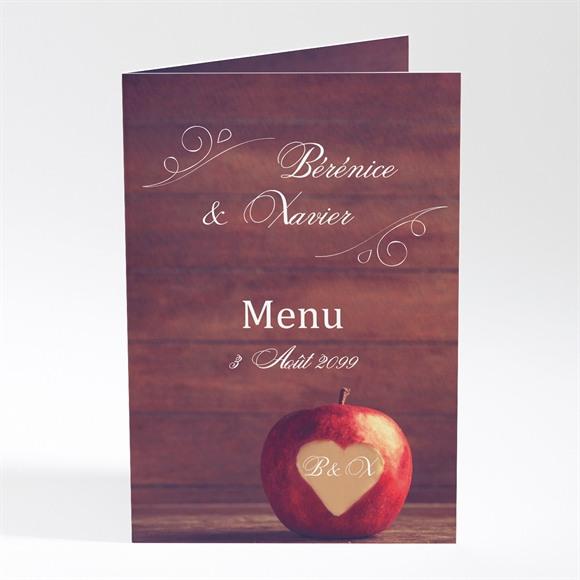Menu mariage La pomme de l'amour éternel... réf.N401647